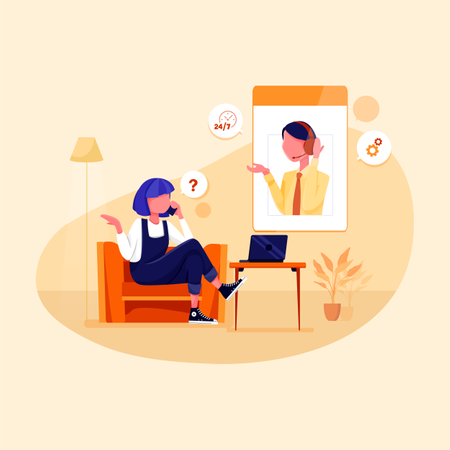 Concept of Customer services Illustration