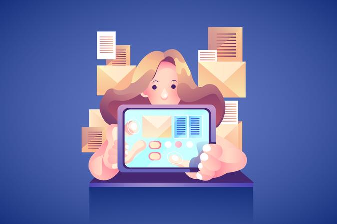 Concept of E Mail Marketing Illustration