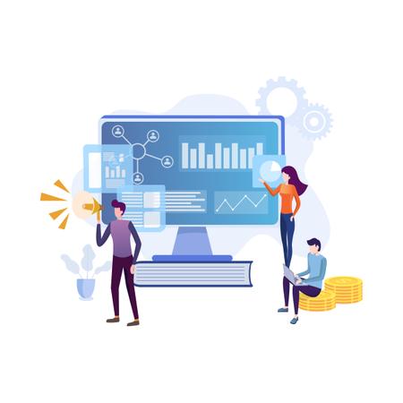 Concept of marketing analysis Illustration