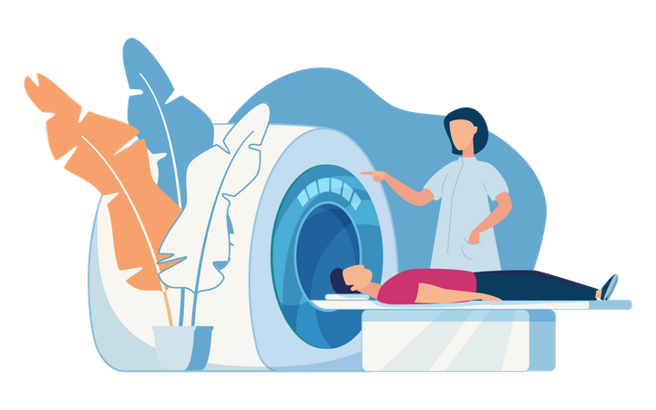 Concept of MRI scanning Illustration