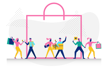 Woohoo Shopping Scene Illustration Pack