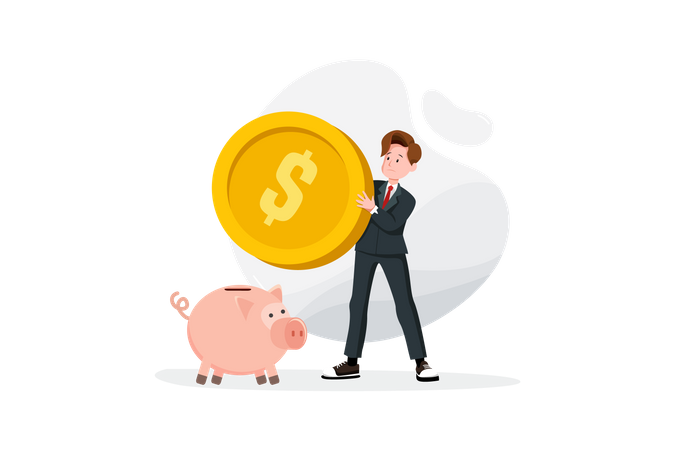 Concept of saving money Illustration
