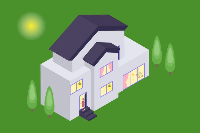 Concept of Smart house Illustration