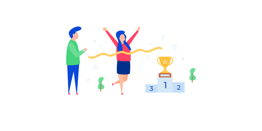 Concept of success in business Illustration