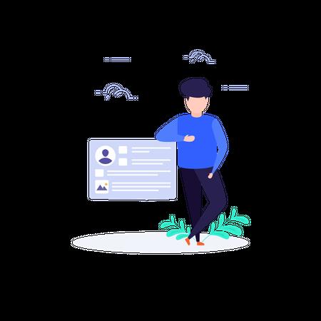 Concept of User Profile Illustration