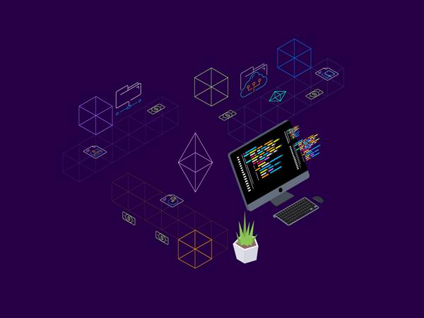Concept of web development Illustration
