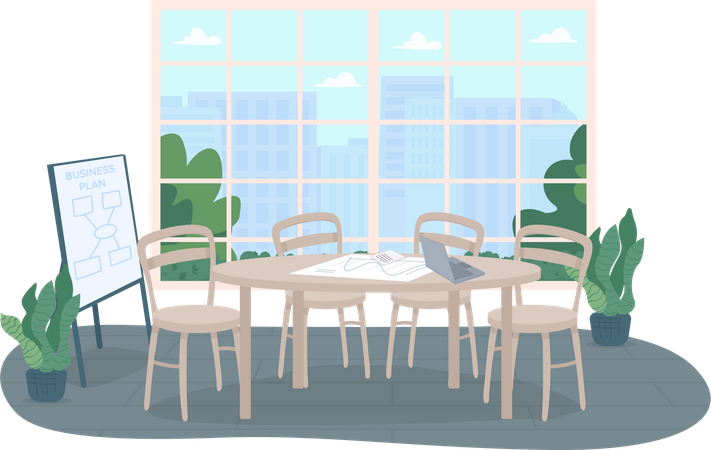 Conference office room Illustration