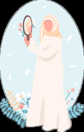 Confident Muslim girl Illustration
