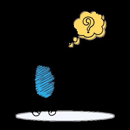 Confused Businessman Illustration