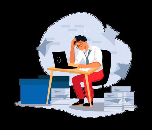 Confused employee Illustration