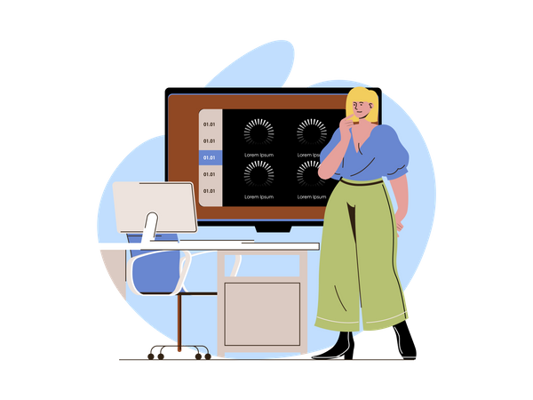 Connection loss while online meeting Illustration