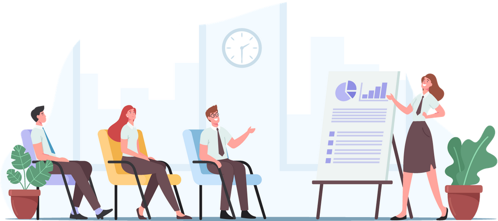 Consulting Company Leader Illustration