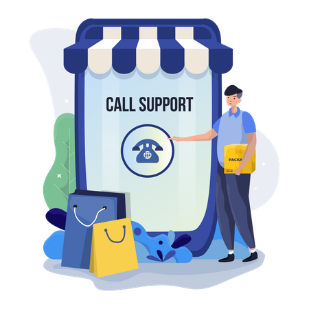 Contact us support page Illustration