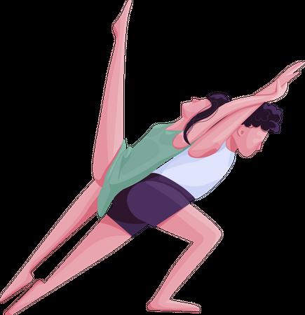 Contemp dancers movements Illustration