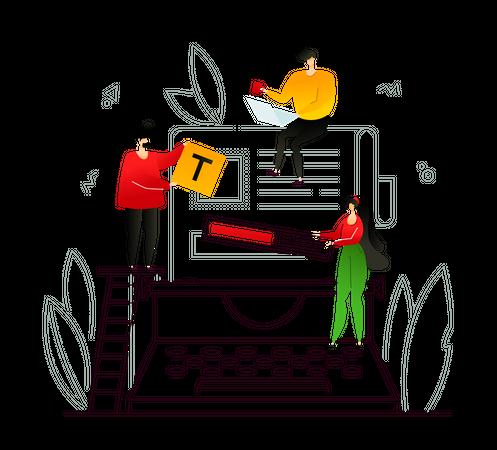 Content management Illustration