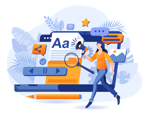 Content Marketing Scene Illustration