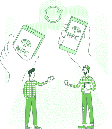 Content sharing using NFC technology Illustration