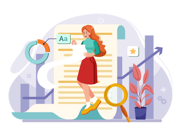 Content Writer Illustration