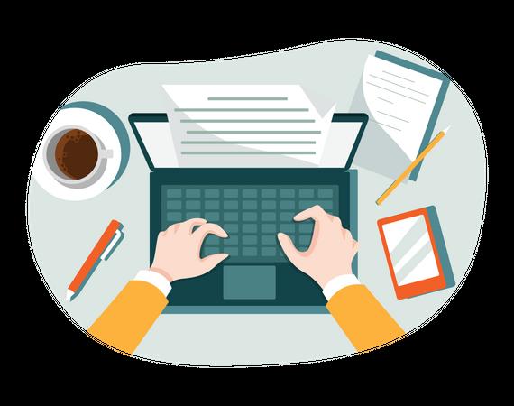 Content Writing Illustration