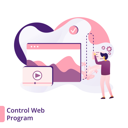 Control web program Illustration