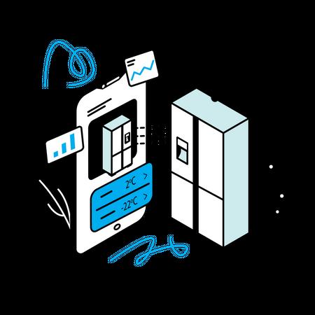 Controlling refrigerator Illustration