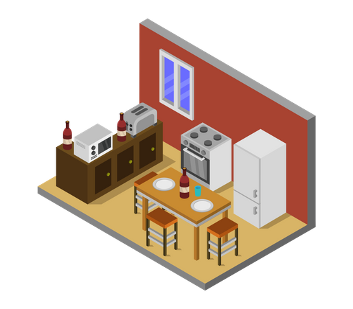 Cook house Illustration