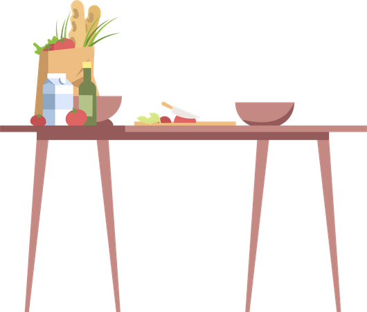 Cooking table Illustration
