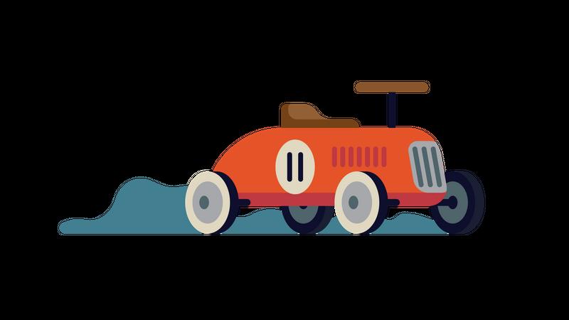 Cool minimalistic ride on toy car Illustration