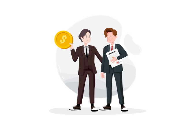 Cooperative or business success concept Illustration