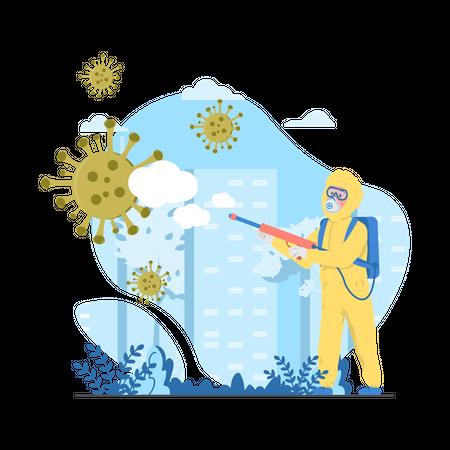 Corona prevention Illustration