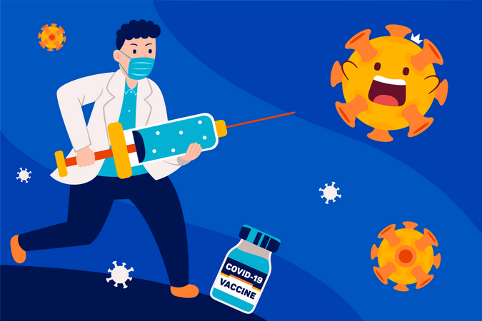 Corona Vaccination Illustration
