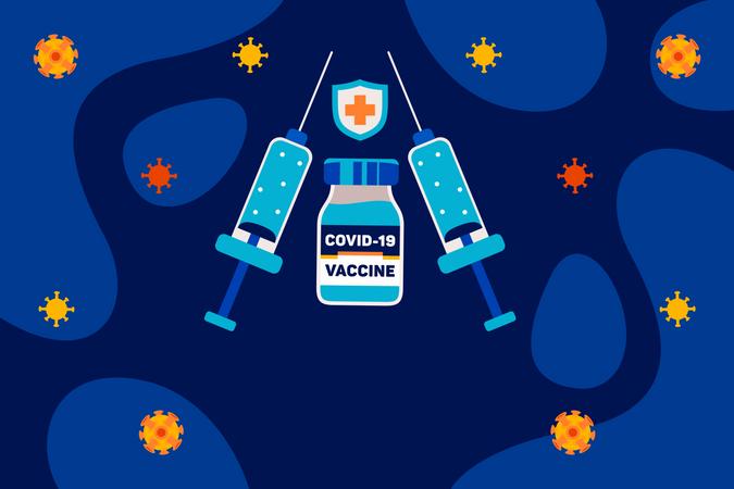 Corona Vaccine Illustration