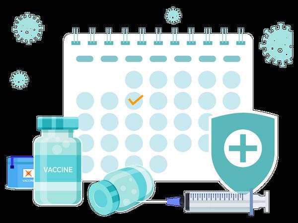 Corona Vaccine Appointment Illustration