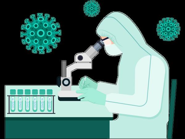 Corona Vaccine Research Illustration