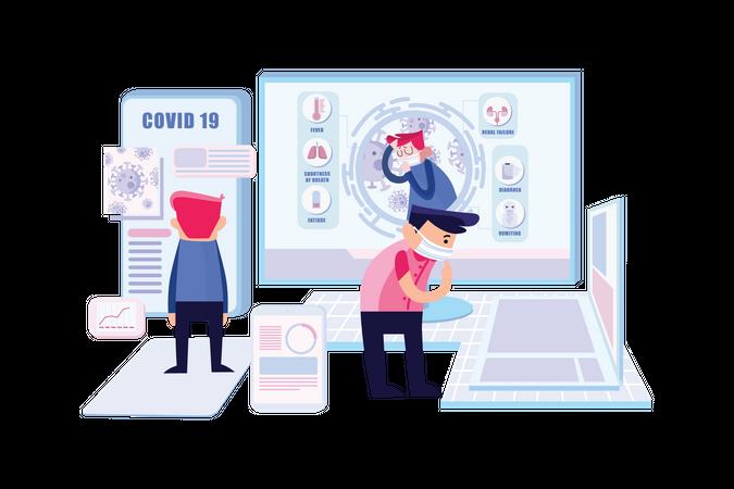 Corona Virus Campaign Illustration