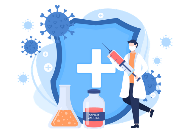 Coronav Vaccination Illustration