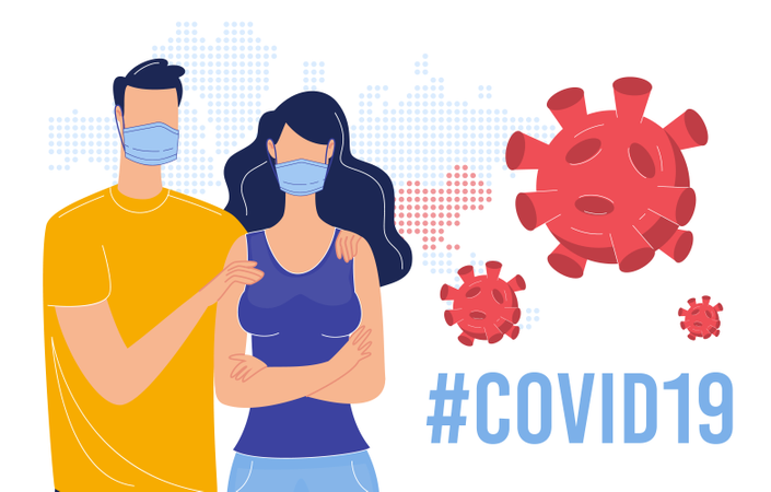 Coronavirus Epidemic Global Crisis, Protection from Dangerous, Contagious and Lethal Respiratory Infection, Disease Infecting Prevention Concept Illustration