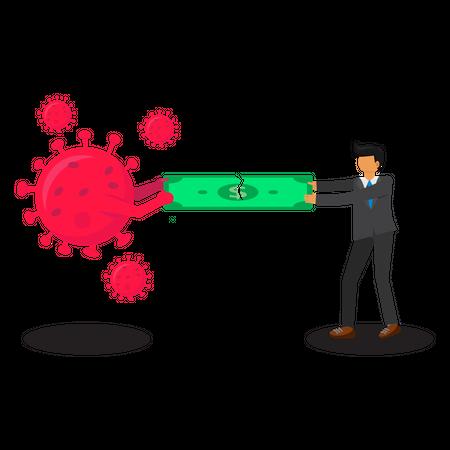 Coronavirus impact on business Illustration