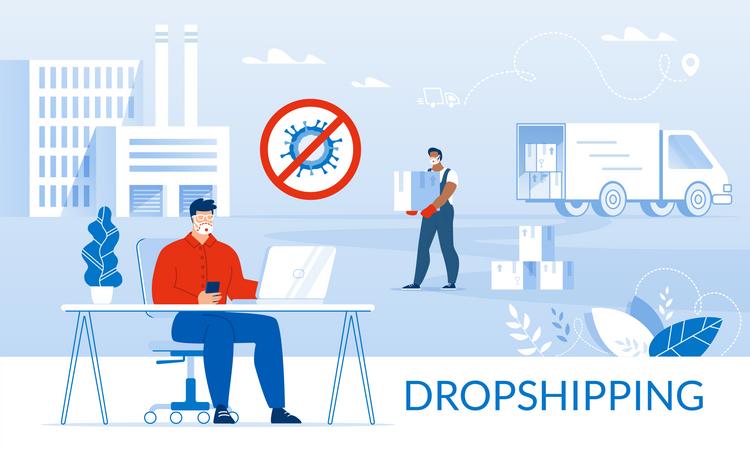 Coronavirus Influence on Drop shipping Illustration