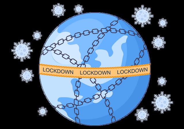 Coronavirus lockdown Illustration