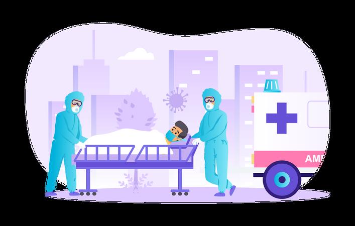 Coronavirus patient Illustration