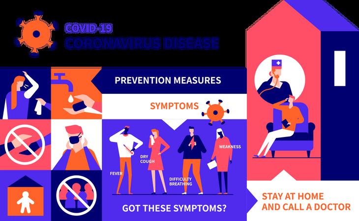 Coronavirus prevention Illustration
