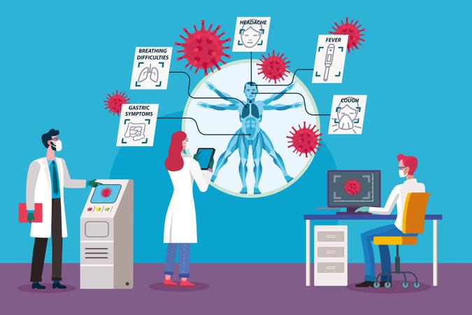 Coronavirus Researchers Illustration
