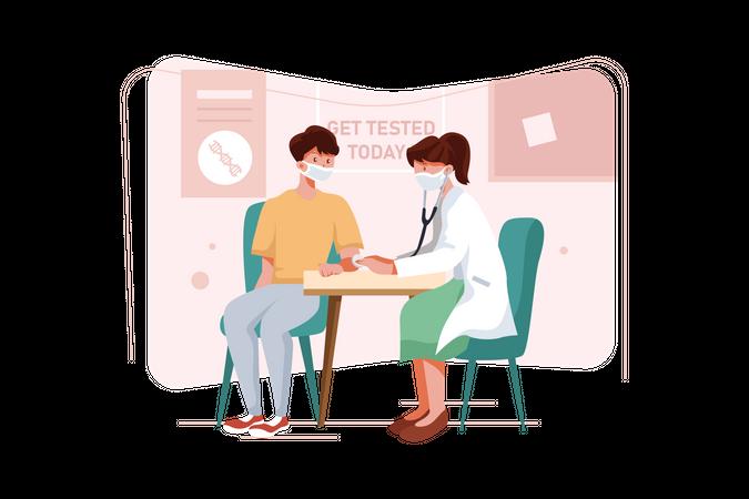 Coronavirus testing center Illustration
