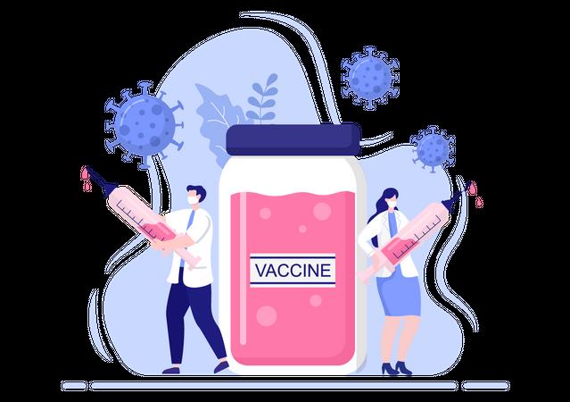 Coronavirus Vaccination Illustration