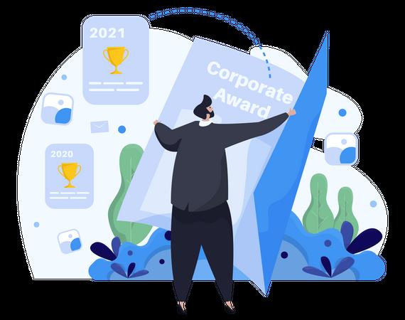 Corporate achievements Illustration