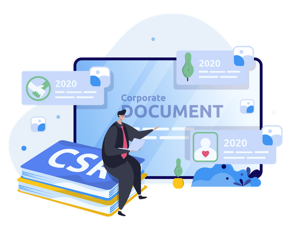 Corporate document Illustration