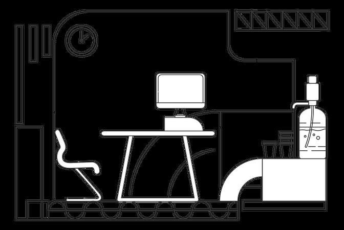 Corporate employee cabinet Illustration