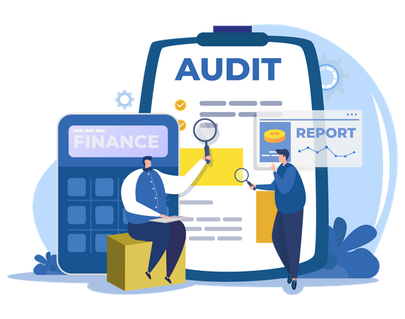 Corporate financial audit Illustration