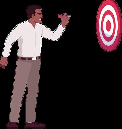 Corporate goals setting Illustration